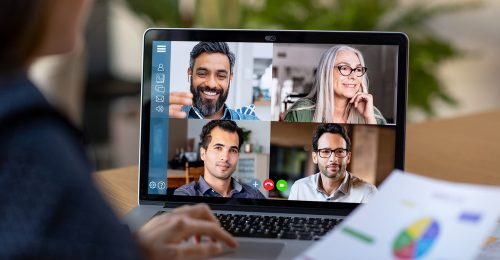 Video conference on laptop for Microsoft gallery