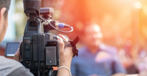 Media, TV reporter