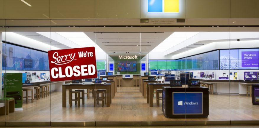 Microsoft store closed