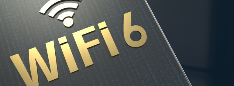 Wi-Fi 6 embossed letters