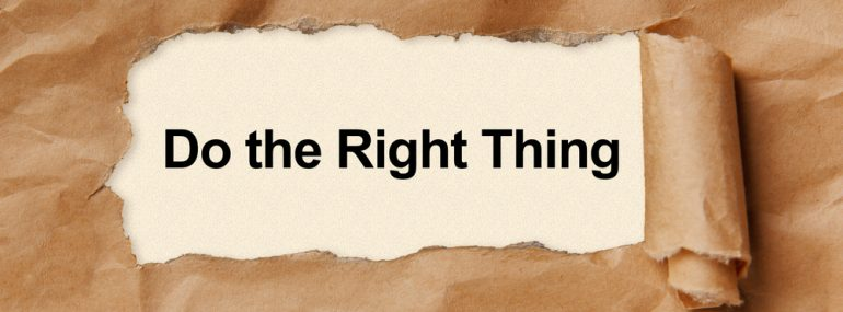 Do the Right Thing - Paper