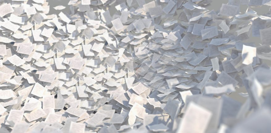Avalanche of paper