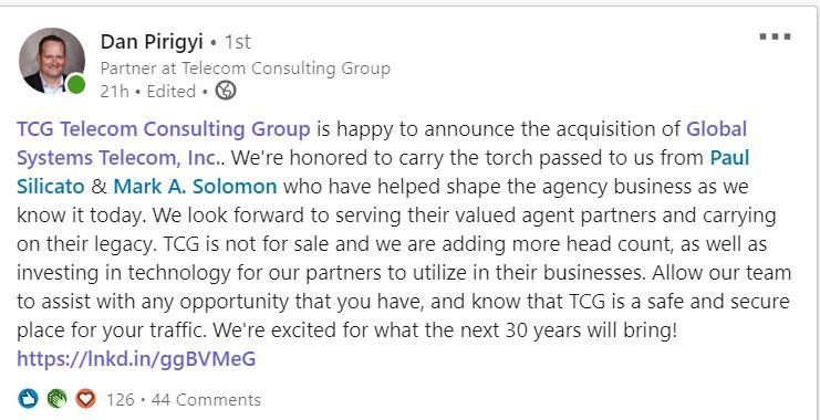 TCG acquisition