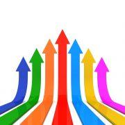 Verticals, upward arrows