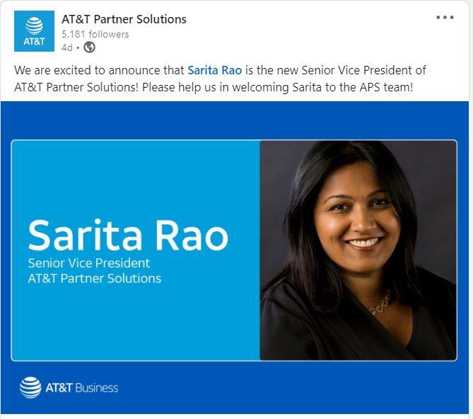 AT&T appoints Sarita Rao