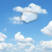 Clouds with Salesforce icon shape