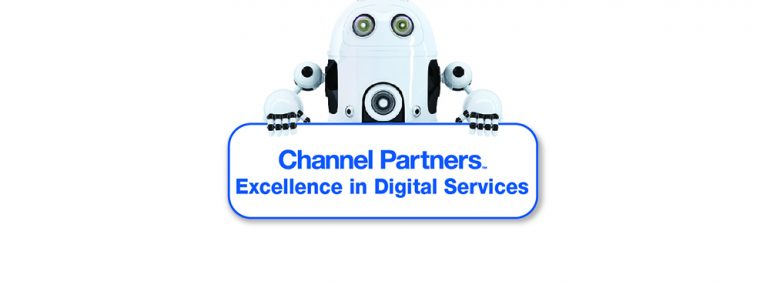 Undated Excellence in Digital Services robot with sign - Digi