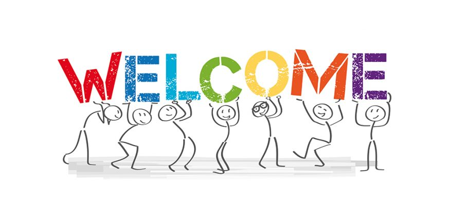Welcome stick figures