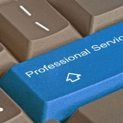 Professional services key on keyboard
