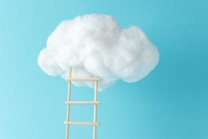 Ladder going into a cloud