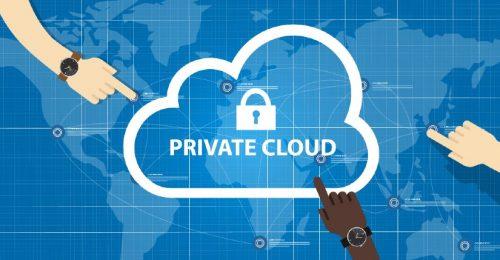 Private cloud depiction