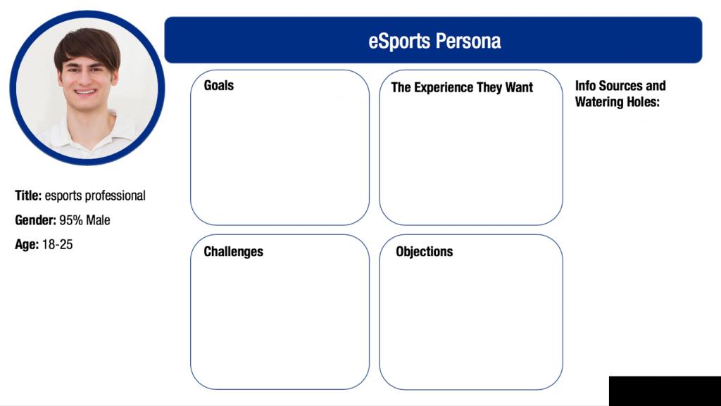 Cox esports persona graphic
