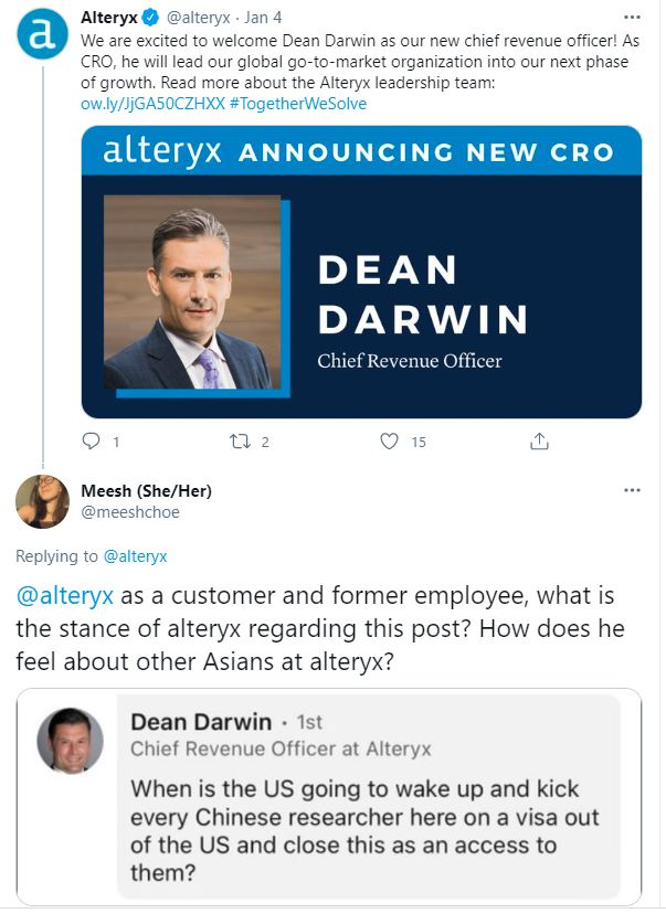 Dean Darwin tweet