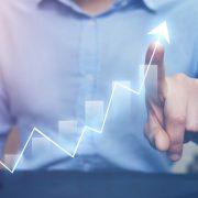 Man showing digital sales growth