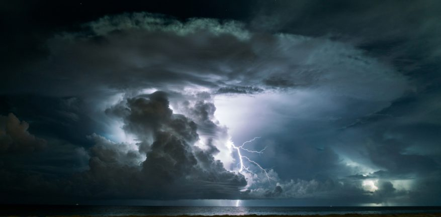 Cloud with lightning