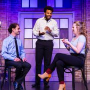 Ben Larrison, Terrance Carey and Maureen Boughey of The Second City