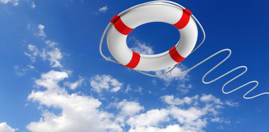 Lifeline, life raft
