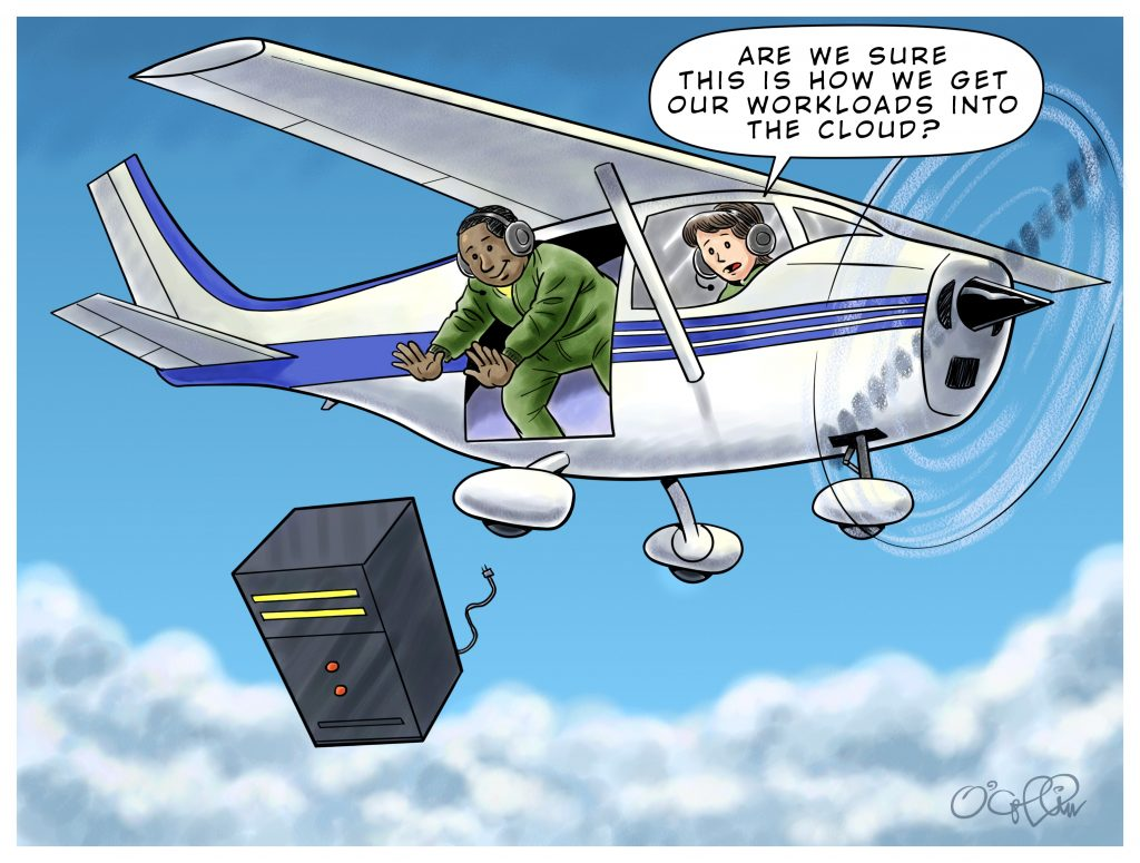 Sungard AS Cloud Migration Cartoon