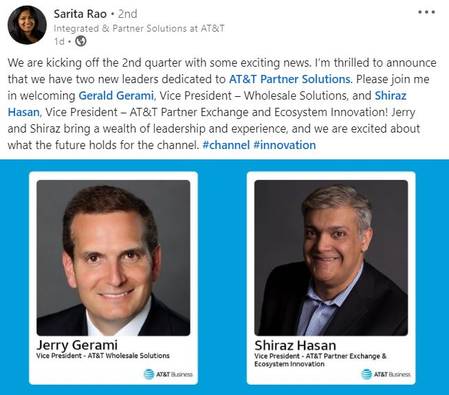 Sarita rao AT&T hires