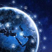 Cybersecurity globe
