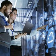 IT people in data center