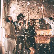 Celebration with confetti