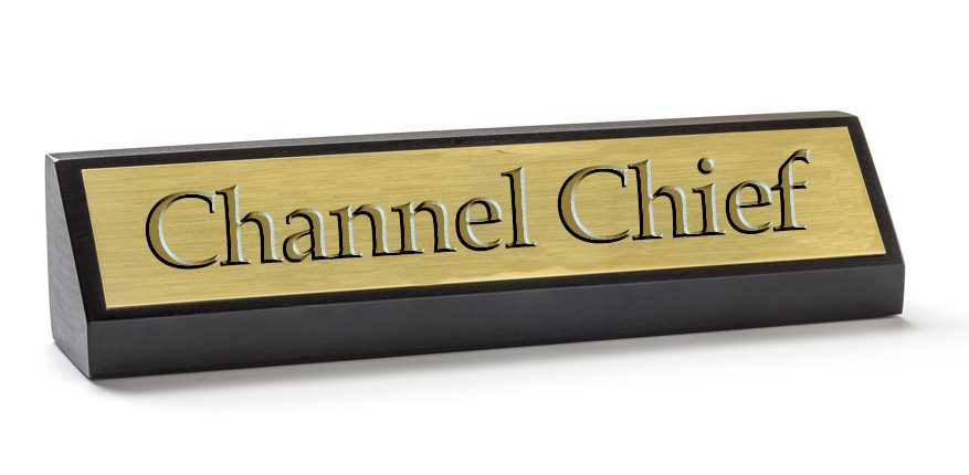 Channel chief name plate