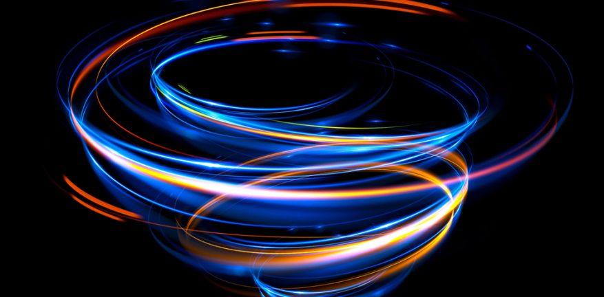 Swirling colored lights
