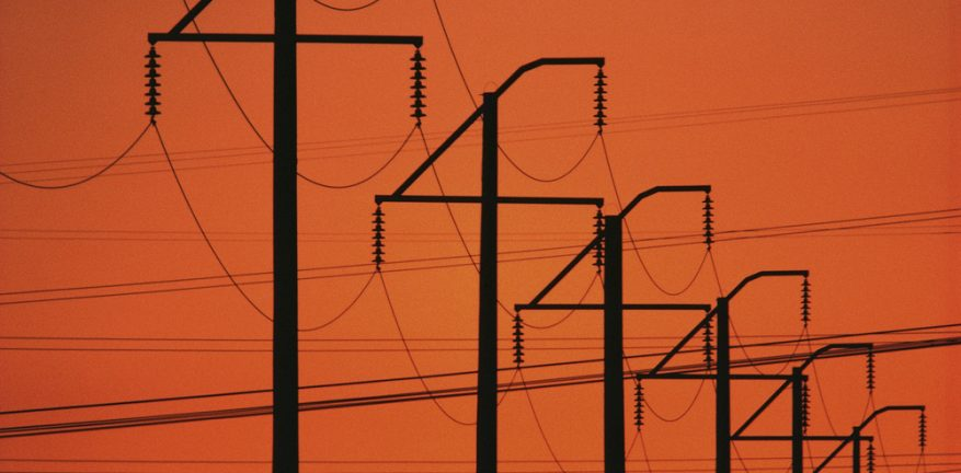 Telephone poles and lines