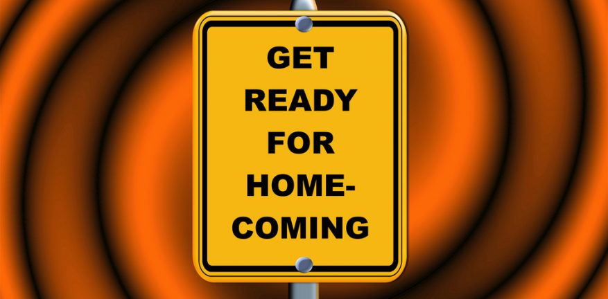 Get ready for homecoming sign