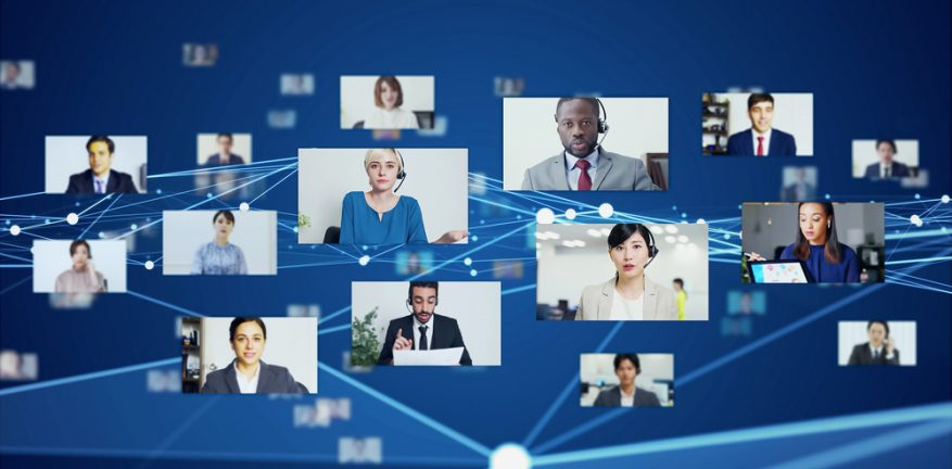 Large video conference, web meeting