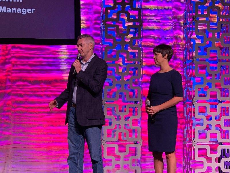 NICE + CX One's Ray Hicken and Digital Realty's Morgan Cranfill at Telarus Partner Summit, July 29, 2021