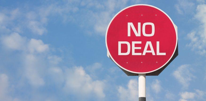 No deal sign
