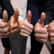 Six thumbs up