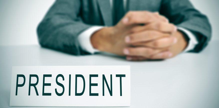President nameplate