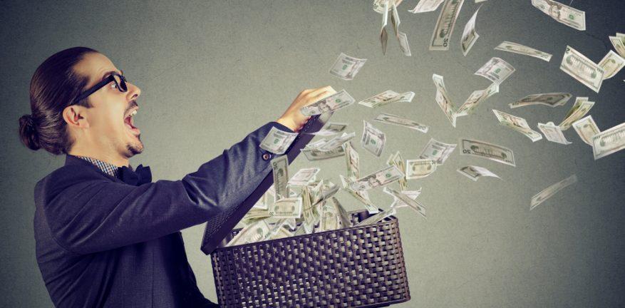 Businessman spending